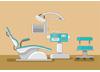 歯科治療椅子のイラスト